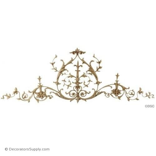 Vine Design-Ital. Ren. 7H X 19 1/2W - 1/4Relief-ornaments-for-woodwork-furniture-Decorators Supply