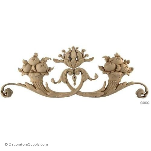 Fruit Baskets with Scrolls-Louis XVI 7H X 19 3/4W - 1Relief-ornaments-for-woodwork-furniture-Decorators Supply