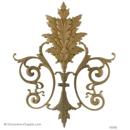 Vine and Leaf Design - Empire 16H X 13W - 1/4Relief-vertical-design-woodwork-furniture-Decorators Supply