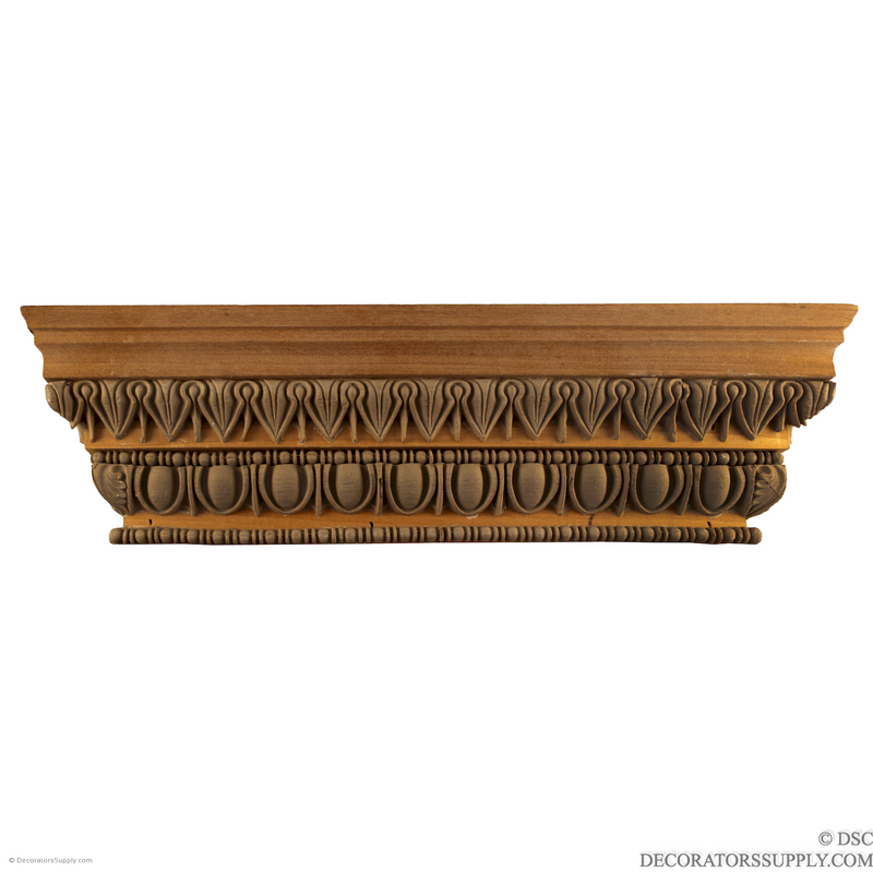 Stain Grade Wood Pilaster Capital [Half Square] - Greek Antae-Decorators Supply