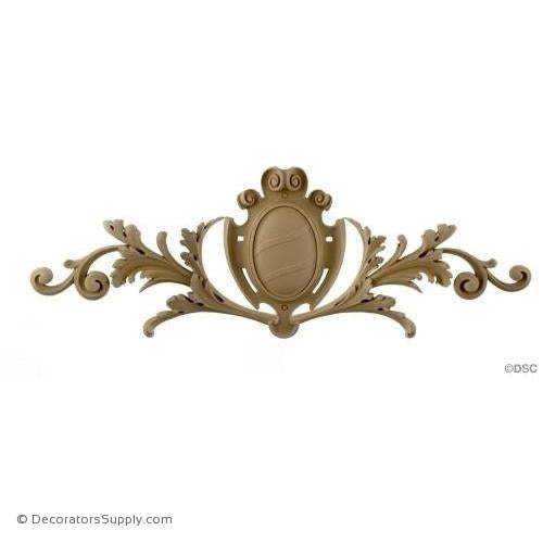 Cartouche with Scrolls - Ren. 10 1/2H X 30W - 1/2Relief-appliques-for-woodwork-furniture-Decorators Supply