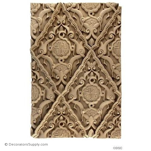 Floral Band - Moorish 16H X 10 3/4W - 1/2Relief-ornaments-furniture-woodwork-Decorators Supply
