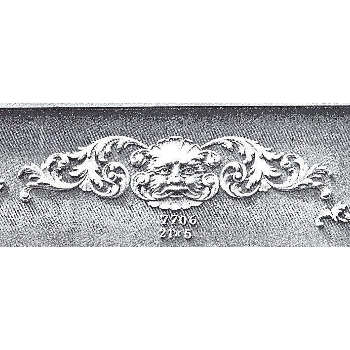 Green Man Cartouche-Louis XV 5H X 21W - 5/8Relief