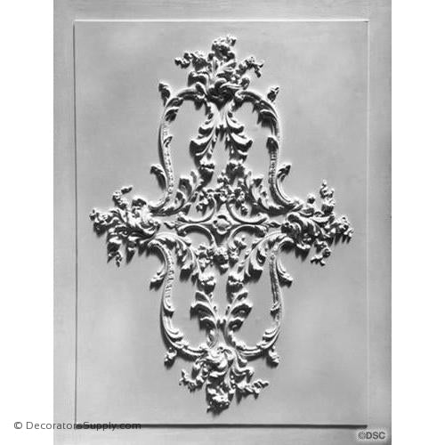 "Plaster -32 x 21 1/2"",OA Panel Dims 38 5/8 x 34 9/16 x 7/16""-ceiling-ornament-Decorators Supply"