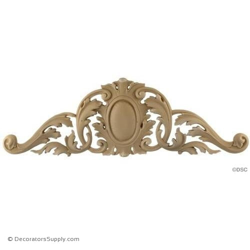 Cartouche-Louis XV 5 7/8H X 18 1/4W - 3/8Relief-appliques-for-woodwork-furniture-Decorators Supply