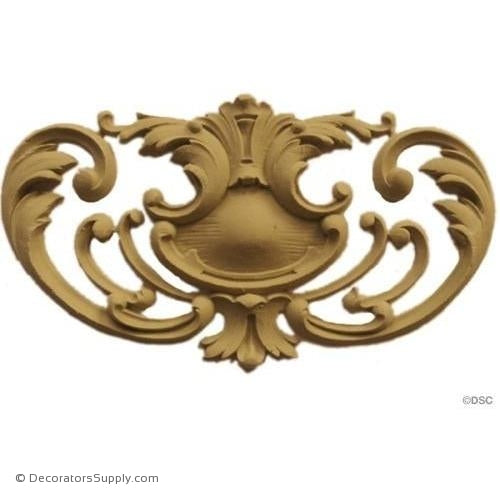 Cartouche - Louis XV 4 1/4H X 7 1/2W - 3/8Relief-appliques-for-woodwork-furniture-Decorators Supply