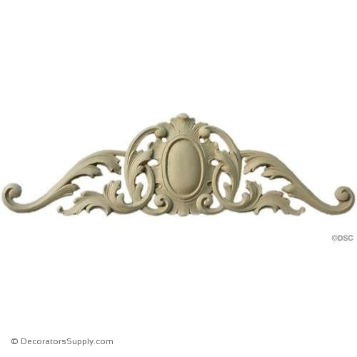 Cartouche - Louis XV 4 3/4H X 15 3/8W - 3/8Relief-appliques-for-woodwork-furniture-Decorators Supply