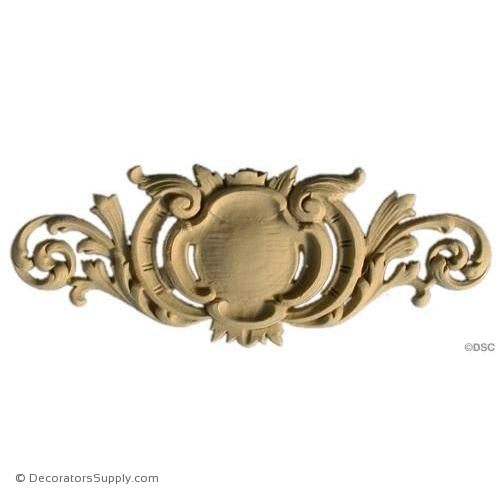 Cartouche - Louis XV 3 1/8H X 8W - 5/16Relief-appliques-for-woodwork-furniture-Decorators Supply