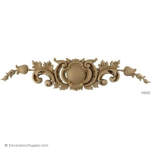 Cartouche - Louis XV 3H X 13W - 3/8Relief-appliques-for-woodwork-furniture-Decorators Supply