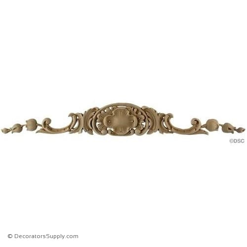 Cartouche - Louis XV 3H X 21 5/8W - 5/16Relief-ornaments-for-woodwork-furniture-Decorators Supply