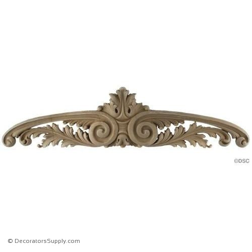 Cartouche - Louis XV 5H X 19 1/4W - 1/2Relief-appliques-for-woodwork-furniture-Decorators Supply