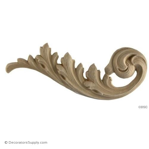Scroll - Louis XV 3 3/4H X 9W - 1/2Relief-ornaments-for-furniture-wooodwork-Decorators Supply