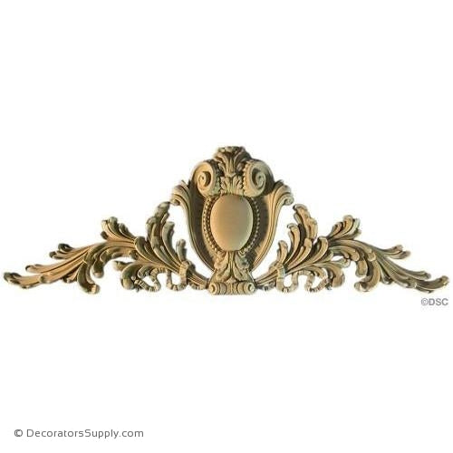 Cartouche-Louis XIV 15 1/2H x 46 1/2W - 2 1/2Relief-appliques-for-woodwork-furniture-Decorators Supply
