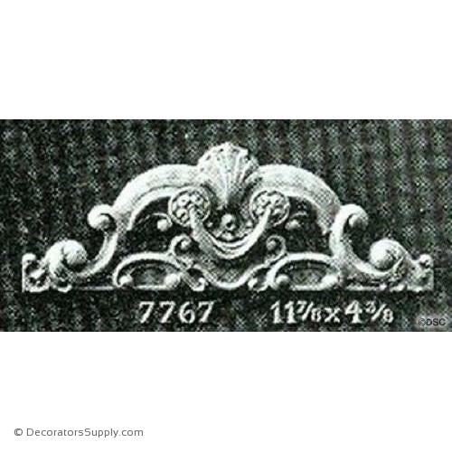 Cartouche-French 4 3/8H X 11 7/8W - 5/8Relief-appliques-for-woodwork-furniture-Decorators Supply
