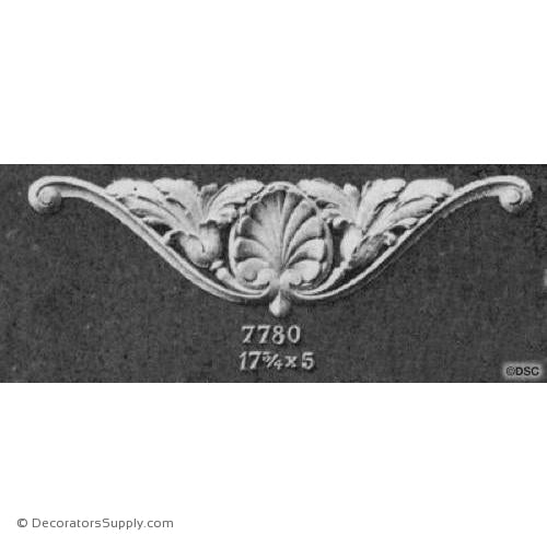 Cartouche - French Ren. 5H X 17 3/4W - 3/8Relief-ornaments-for-woodwork-furniture-Decorators Supply