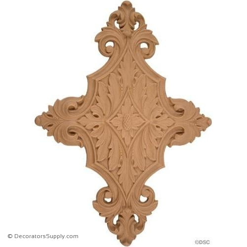 Vertical Design 8 1/2 High 6 Wide-ornaments-for-woodwork-furniture-Decorators Supply