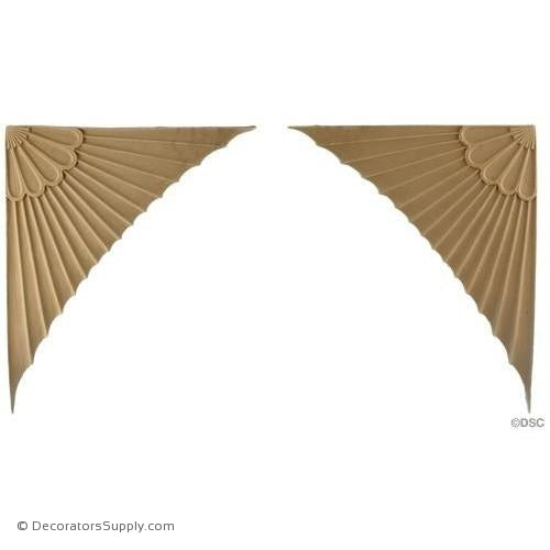 Spandrel - Fan -Adams 10 1/4H X 8 1/2W - 3/16Relief-appliques-for-woodwork-furniture-Decorators Supply