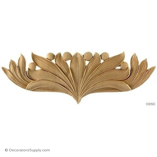 Leaf - Adams 5H X 7 3/8W - 3/16Relief-ornaments-furniture-woodwork-Decorators Supply