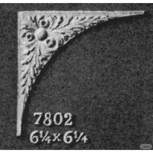 Spandrel - French 6 1/4H X 6 1/4W - 1/4Relief-appliques-for-woodwork-furniture-Decorators Supply