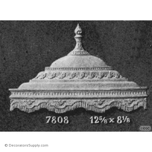 Urn - Colonial 8 1/8H X 12 5/8W - 1/4Relief-ornaments-for-furniture-woodwork-Decorators Supply