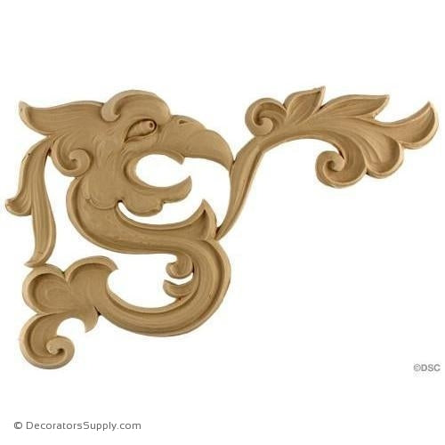 Animal Serpent-Chinese 7 5/8H X 11 3/4W - 3/16Relief-Decorators Supply