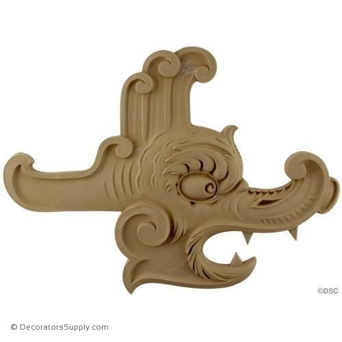 Animal Serpent-Chinese 11 1/4H X 15 1/2W - 1/2Relief-Decorators Supply