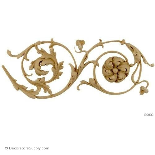 Floral-French Ren. 3H - 3/8Relief-moulding-for-furniture-woodwork-Decorators Supply