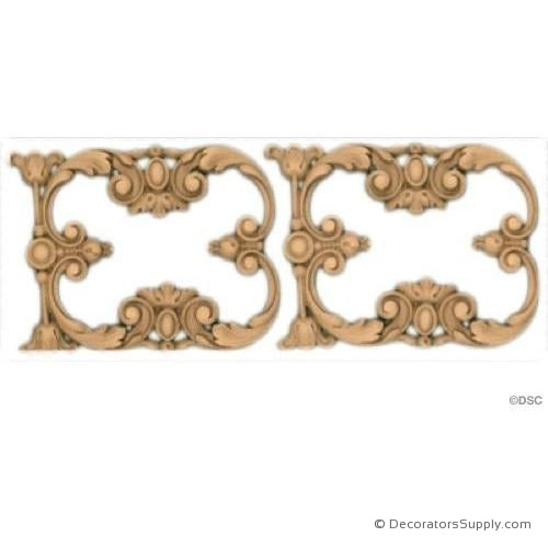 Floral-Ger. Ren 6H - 9/16Relief-moulding-for-furniture-woodwork-Decorators Supply