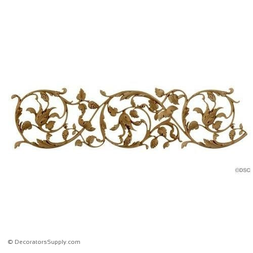 Floral-Ital. Ren. 4H - 1/4Relief-moulding-for-furniture-woodwork-Decorators Supply