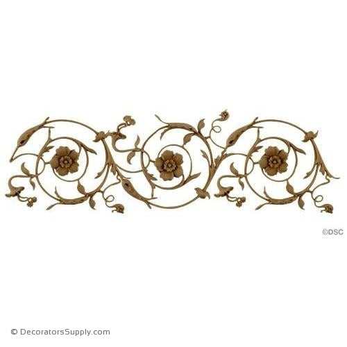 Floral Scroll - Ital. Ren. 5H - 1/4Relief-moulding-for-furniture-woodwork-Decorators Supply