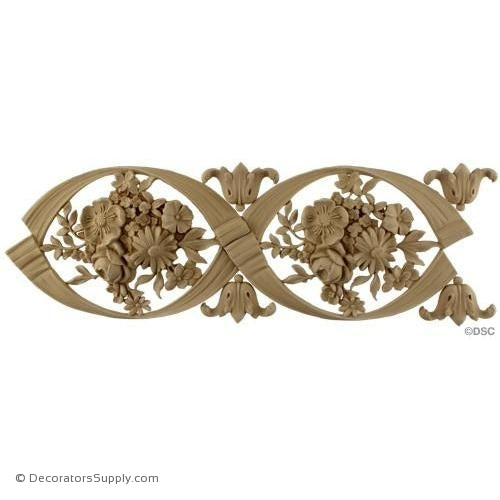 Rose Bouquet Linear-Louis XVI 5 3/4H - 5/8Relief-moulding-for-furniture-woodwork-Decorators Supply