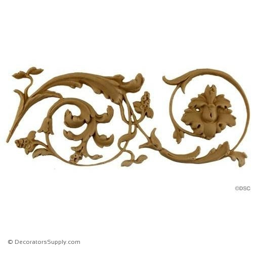 Floral-Ital. Ren. 3 3/4H - 5/16Relief-moulding-for-furniture-woodwork-Decorators Supply