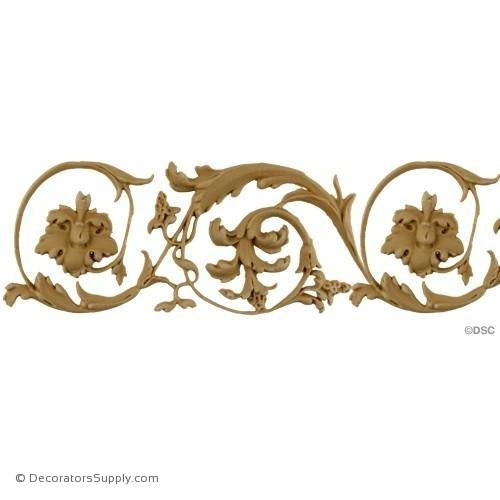 Floral-Ital. Ren. 3 3/4H - 3/16Relief-moulding-for-furniture-woodwork-Decorators Supply