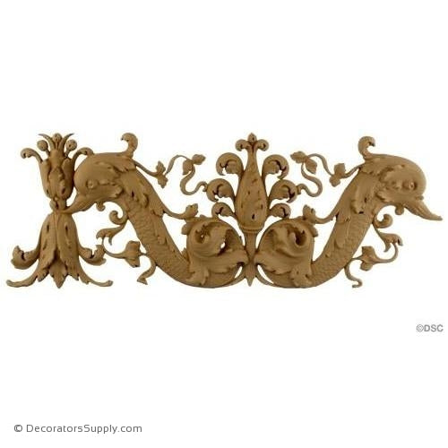 Floral-Ital. Ren. 6 1/2H - 3/4Relief-moulding-for-furniture-woodwork-Decorators Supply