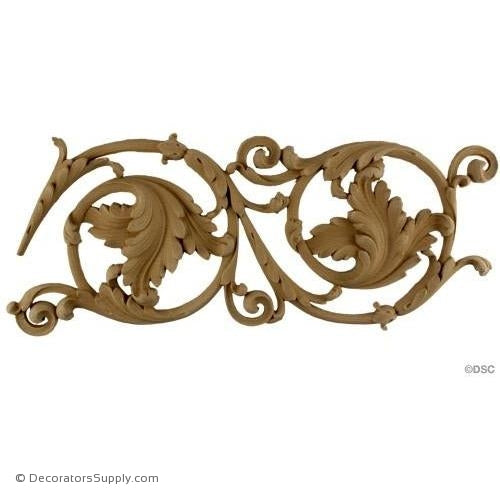 Leafy Scroll - Empire 7 1/4H - 7/8Relief-moulding-for-furniture-woodwork-Decorators Supply