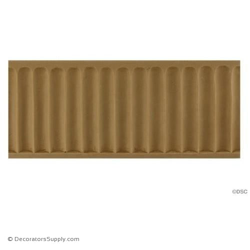 Fluted-Colonial 2 15/16H - 3/16Relief-moulding-for-furniture-woodwork-Decorators Supply