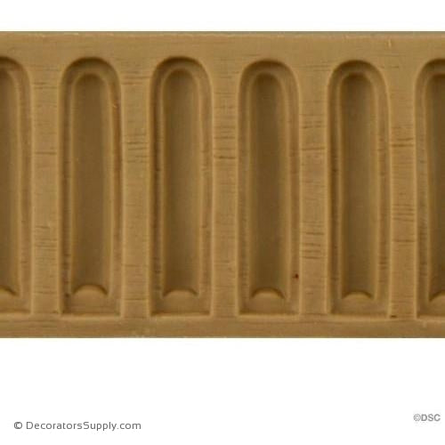 Fluted-Colonial 1 1/4H - 3/16Relief-moulding-for-furniture-woodwork-Decorators Supply