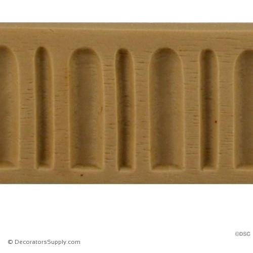 Fluted-Colonial 1 3/16H - 3/16Relief-moulding-for-furniture-woodwork-Decorators Supply