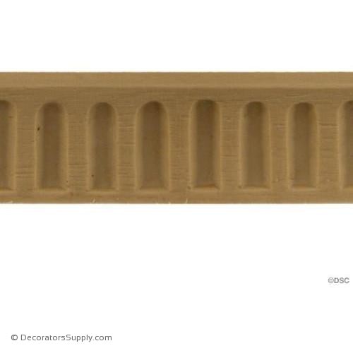 Fluted-Colonial 7/8H - 1/4Relief-moulding-for-furniture-woodwork-Decorators Supply