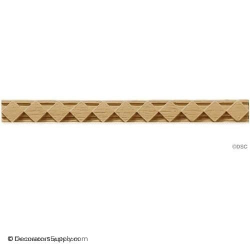 Diamond Lineal - Flemish 1H - 3/16Relief-moulding-for-furniture-woodwork-Decorators Supply