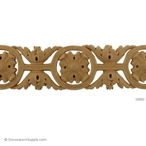 Leaf-Italian 3 1/8H - 3/16Relief-woodwork-furniture-lineal-ornament-Decorators Supply