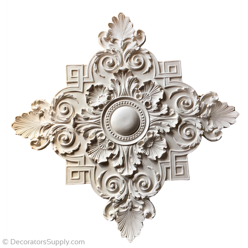 "Resin (Exterior) Medallion 38-1/2"" On Diagonal x 1-1/2"" Relief"