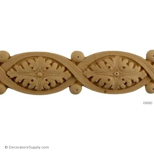 Leaf-Louis XVI 3 1/4H X 5 7/8W - 1/2Relief-woodwork-furniture-lineal-ornament-Decorators Supply