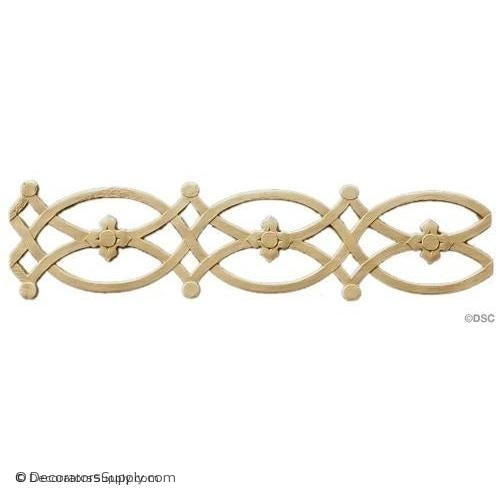 Linear - Romanesque 3 1/2H - 1/8Relief-moulding-for-furniture-woodwork-Decorators Supply