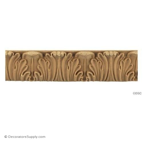 Acanthus-Romanesque 1 3/8H - 1/2Relief-woodwork-furniture-lineal-ornament-Decorators Supply