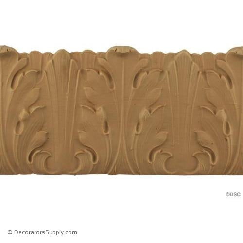Acanthus - Romanesque 4 3/8H - 3/16Relief-woodwork-furniture-lineal-ornament-Decorators Supply