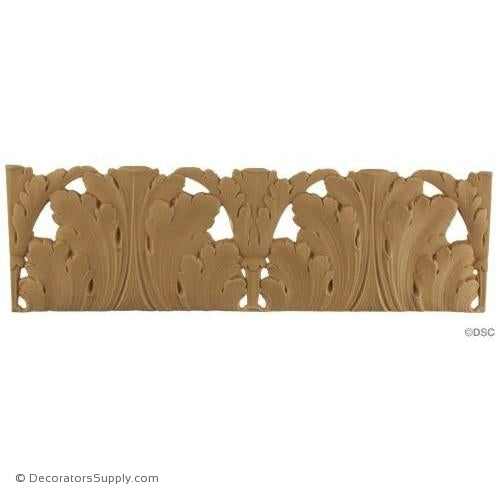 Acanthus-Louis XVI 4 1/2H - 1/8Relief-woodwork-furniture-lineal-ornament-Decorators Supply