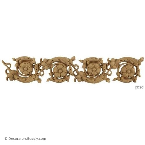 Floral Scroll - Italian 2H - 1/4Relief-moulding-for-furniture-woodwork-Decorators Supply