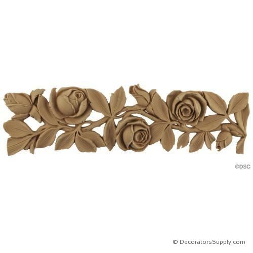 Rose and Leaf Linear - Louis XVI 2 3/4H - 1/4Relief-moulding-for-furniture-woodwork-Decorators Supply