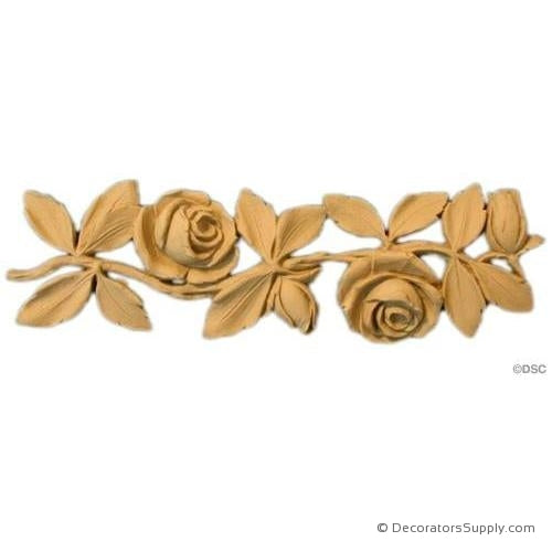 Rose and Leaf Linear - Louis XVI 2 1/4H - 5/16Relief-moulding-for-furniture-woodwork-Decorators Supply
